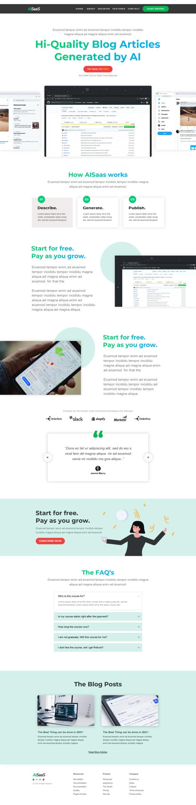 Cloud Saas Landing Page