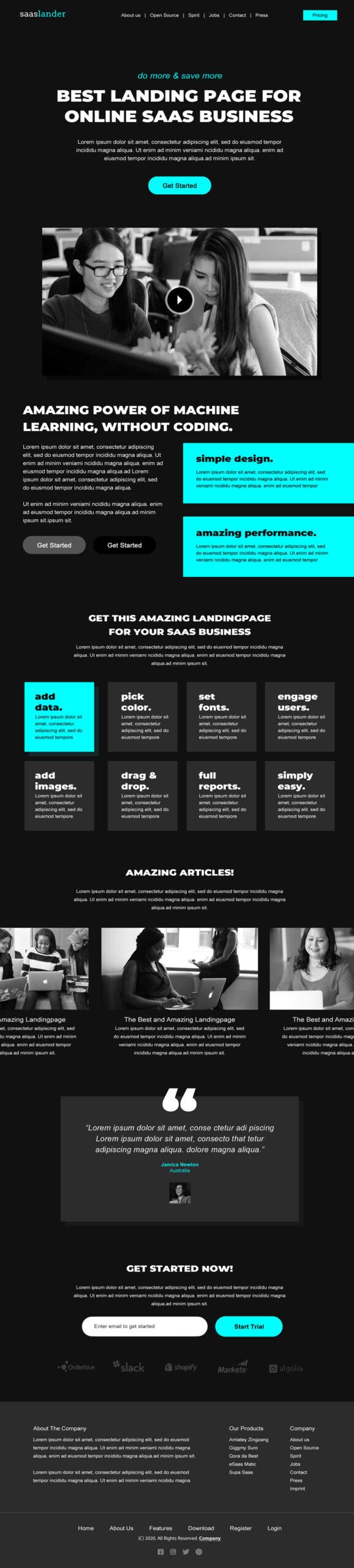 Creative Saas Lading Page
