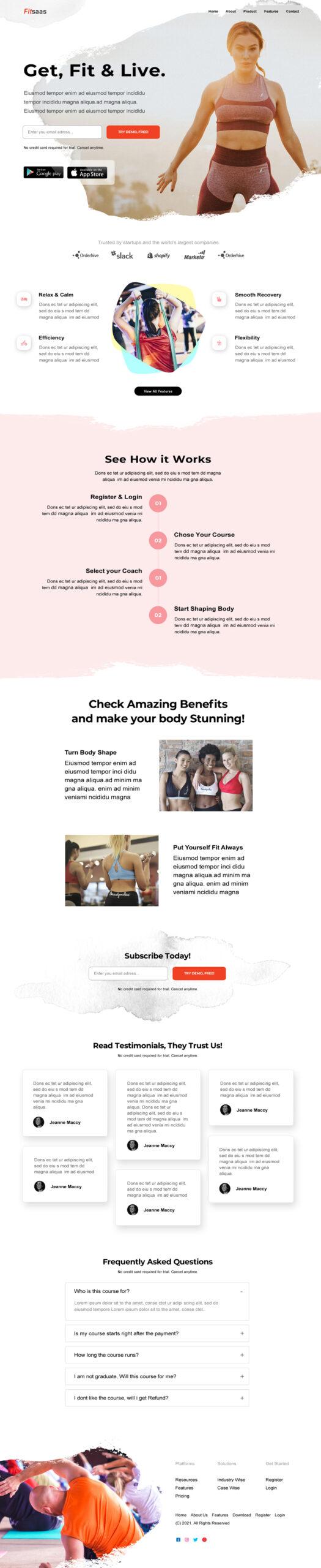 Health Saas Landing Page