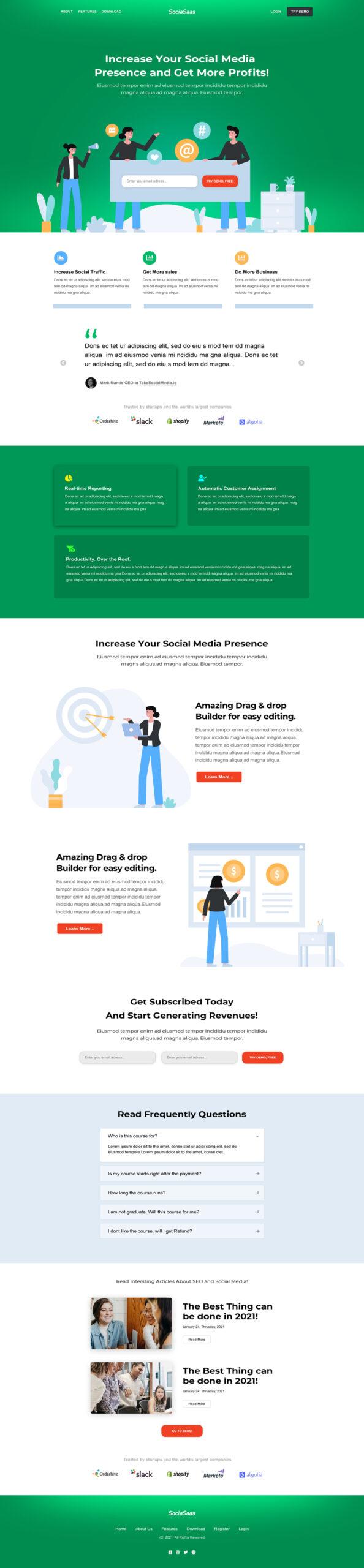 Marketing Saas Landing Page