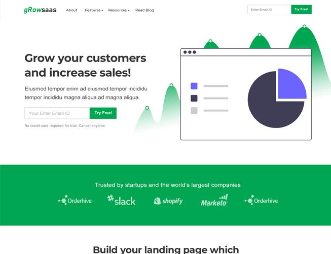 One Page Saas Landingpage