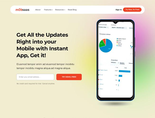 Saas App Landing Page