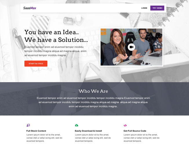 Saas Business Landing Page Template
