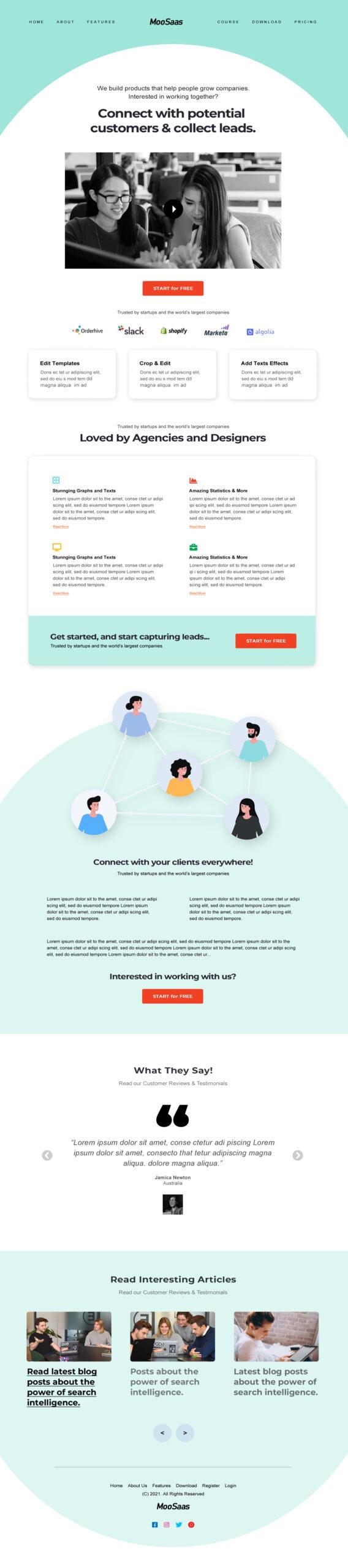Saas Company Landing Page