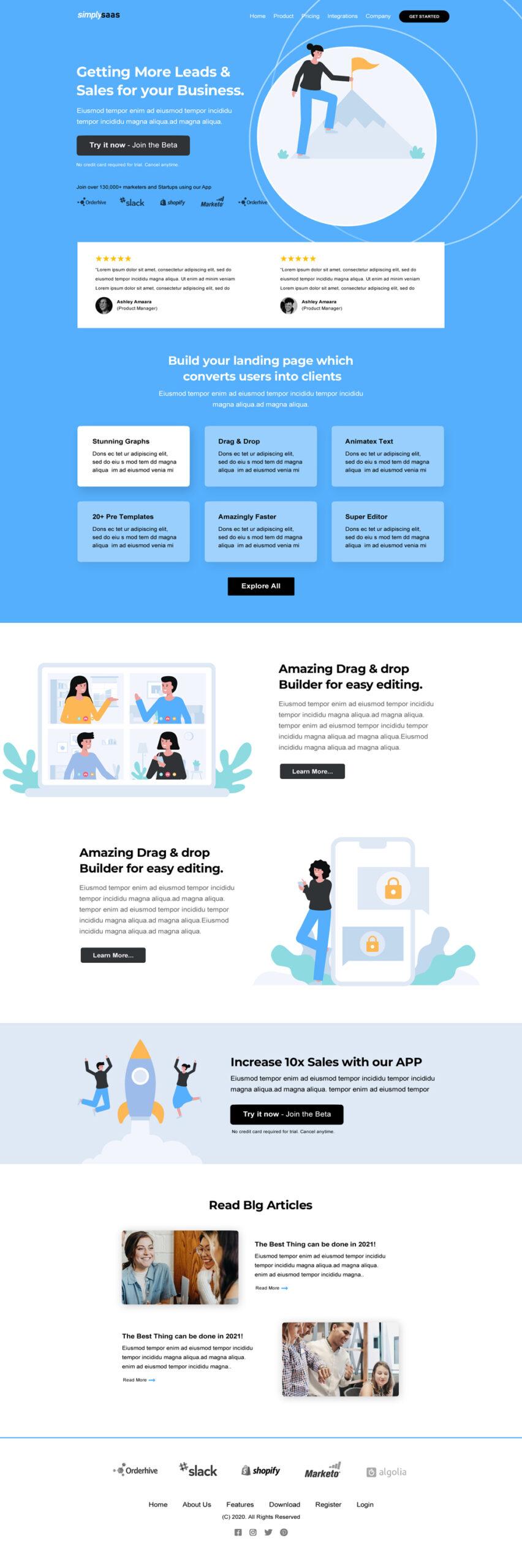 Saas Startup Landing Page