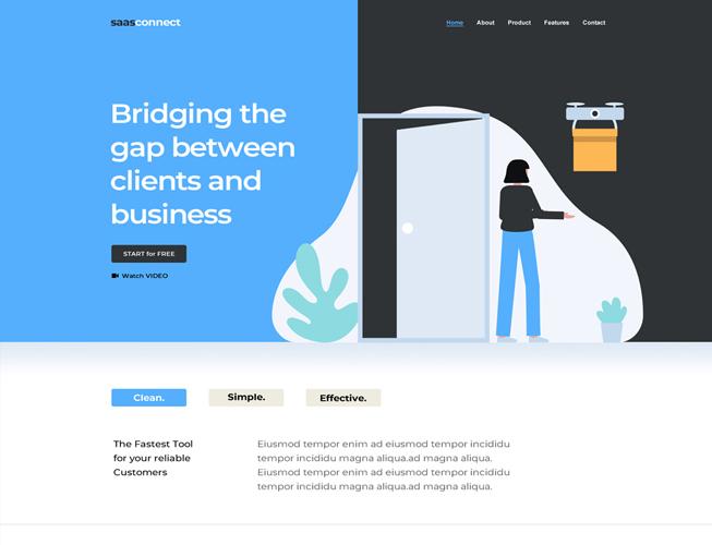 Saas Tech Landing Page