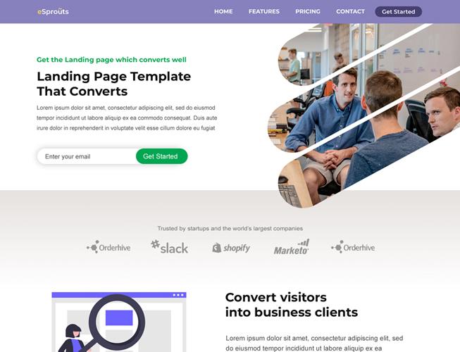 Simple Saas Landing Page