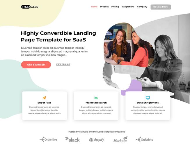 Startup Saas Landing Page