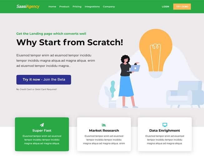 Tech Biz Saas Landing Page