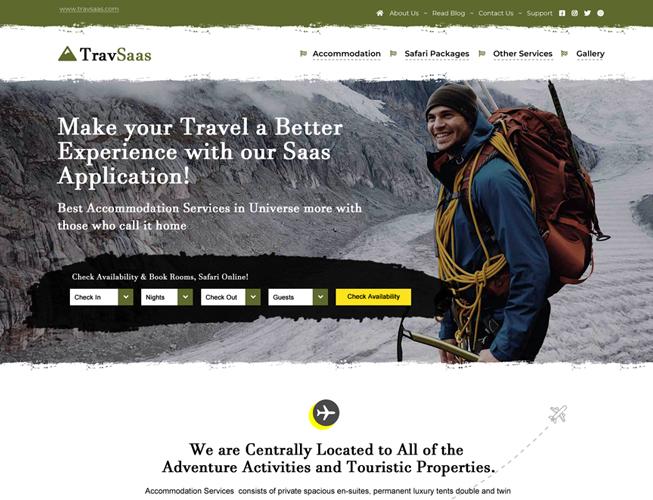 Travel Saas Landing page